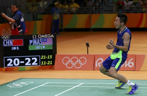 Lee Chong Wei's win against Lin dan